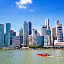 Marina Bay of Singapore by Steven De Siow - City,  Street & Park  Skylines ( cityscape, city skyline, singapore, marina bay, singapore river,  )