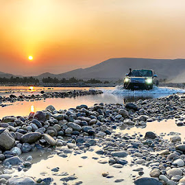 River Mula by Abdul Rehman - Instagram & Mobile iPhone ( pakistan, sunset, beautiful, balochistan, stones, river )