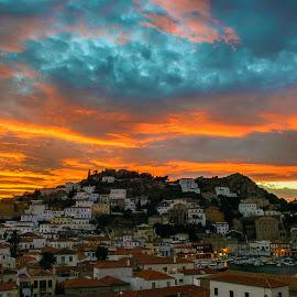Dusk at Hydra... by Ioannis Alexander - Landscapes Sunsets & Sunrises ( sunset, dusk, skyscape )