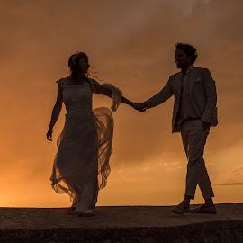 The Wedding II by Atle Riska - People Couples ( sunset, wedding, croatia, hvar )