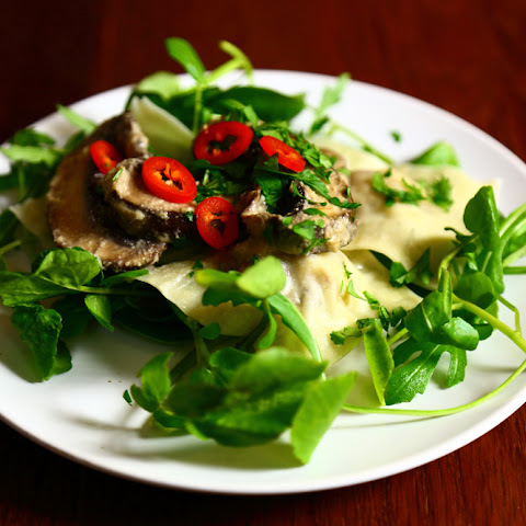 Vegan Ravioli Filled with Parsnips and Porcini