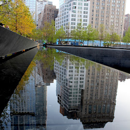 9/11 Reflections by Rachel Ryan - Buildings & Architecture Statues & Monuments