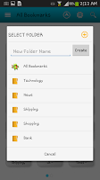 Screenshot of Bookmark App
