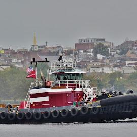 Tugboat by Mary Gallo - Transportation Boats