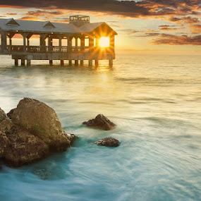 Key West Sunrise by Craig Bill - Travel Locations Landmarks ( landscape, beach, , relax, tranquil, relaxing, tranquility )