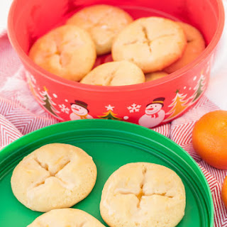 Almond Tangerine Butter Cookies