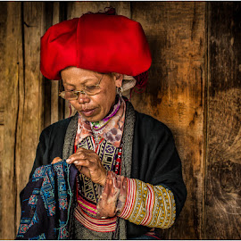 Sewing Lady # 2 by Rick Venter - People Portraits of Women ( 2015, vietnam )