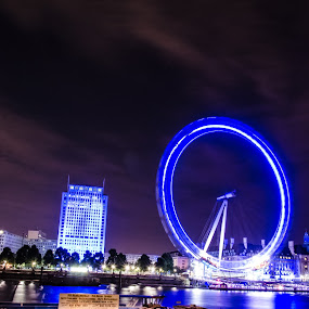 London eye by Mohammed Hashmi - City,  Street & Park  Street Scenes