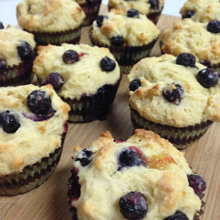 Blueberry Yogurt Muffins with Lemon Curd Filling