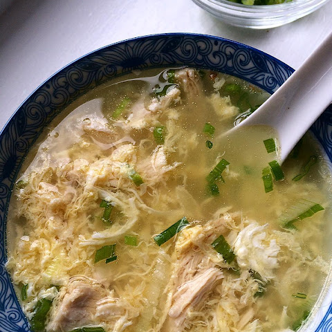 Ginger Scallion Egg Drop Soup