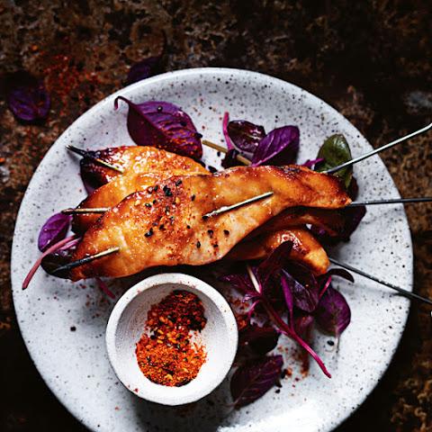 Miso-Glazed Salmon Skewers Recipe | Yummly