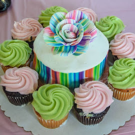 Cupcake Cake by Deborah Lucia - Food & Drink Candy & Dessert ( dessert, cake, wedding, icing, colorful )