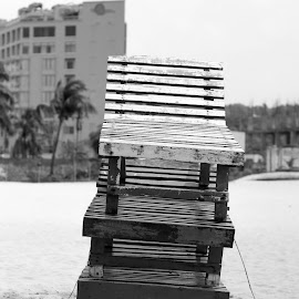 tin mohola bari(3 Level's home) by Zubair Rafat - Artistic Objects Furniture ( structure, sea, house, beach, lonely )