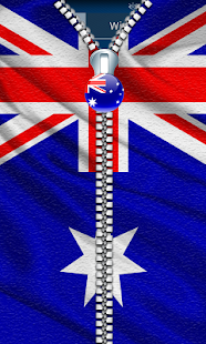 Australia Flag Zipp Screenlock - screenshot