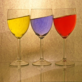 Gravity unbounded....... by Aroon  Kalandy - Artistic Objects Glass ( champagne glasses )