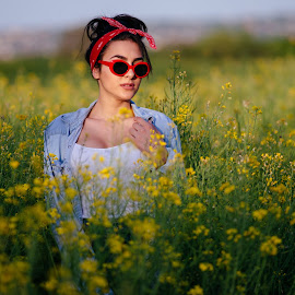 Nena by Bugarin Dejan - People Portraits of Women ( makeup, photooftheday, lovely, sunglasses, expression, beauty, nature, portrait, girl, colors, red, beautiful, light, sunset, model, looking, posing, photography, fashion )