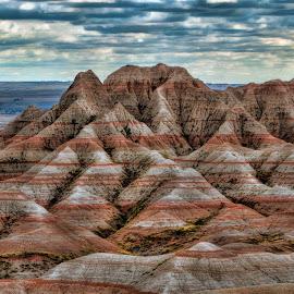 Bad Lands by Sheen Deis - Landscapes Mountains & Hills ( nature, color, landscape, badlands )
