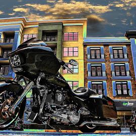 by JEFFREY LORBER - Digital Art Things ( harley, lorberphoto, speed festival, motorcycle, rust 'n chrome, jeffrey lorber )