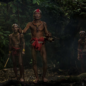 hunting time by Henry Kurniawan - People Portraits of Men ( isolated, travel location, tribe, indonesia, journey, travel, group, people )