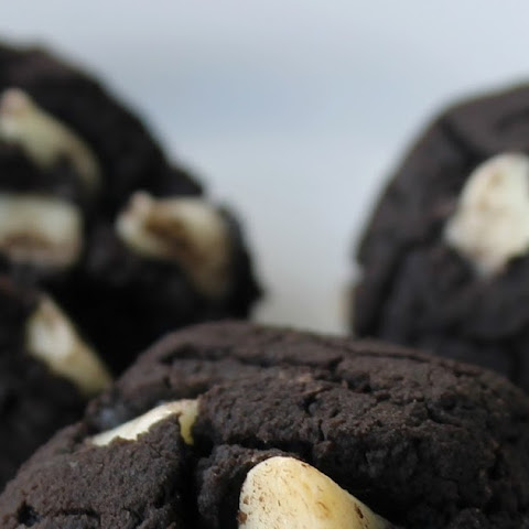 Dark Chocolate Chickpea Cookies With White Chocolate Chips