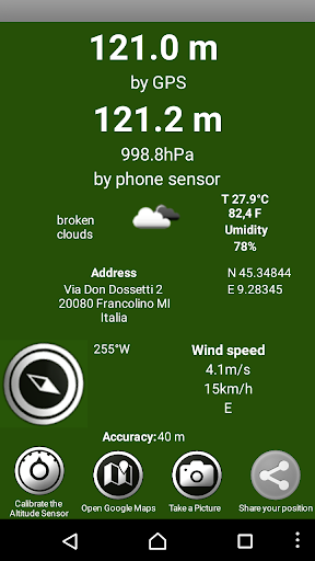 Altimeter Barometer Pro - screenshot