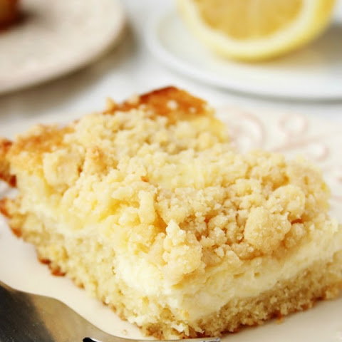 Lemon Cream Cheese Crumb Cake
