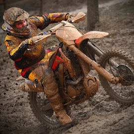 Pushing by Marco Bertamé - Sports & Fitness Motorsports ( uphill, bike, mud, rainy, motocross, pushing, motorcycle, clumps, race, accelerating, competition )