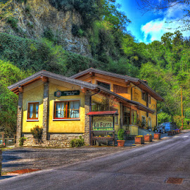 La Forra by Luka Milevoj - Buildings & Architecture Homes ( lago, lombardy, tremosine, la forra, hdr, garda, di, lake garda, house, restaurant, italy )