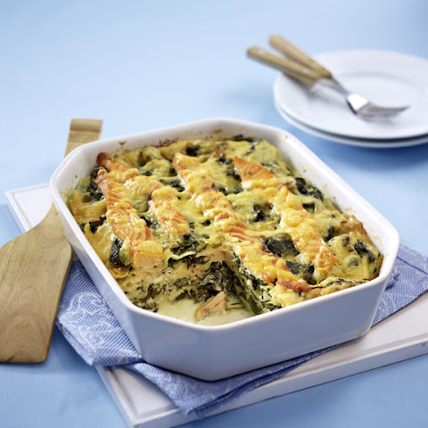 Spinach and Salmon Lasagna