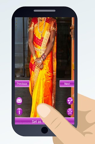 android indian sari dresses Screenshot 5
