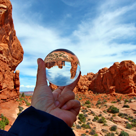 Vision by Dipali S - Artistic Objects Other Objects ( unique, garden of eden, sandstone, states, sphere, rock, refraction, preserve, nature, formations, southwest, monument, geological, moab, orange, desert, park, national, scenic, red, arches national park, utah, arches, service, view, natural )