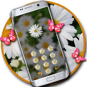 Butterfly flower lock theme
