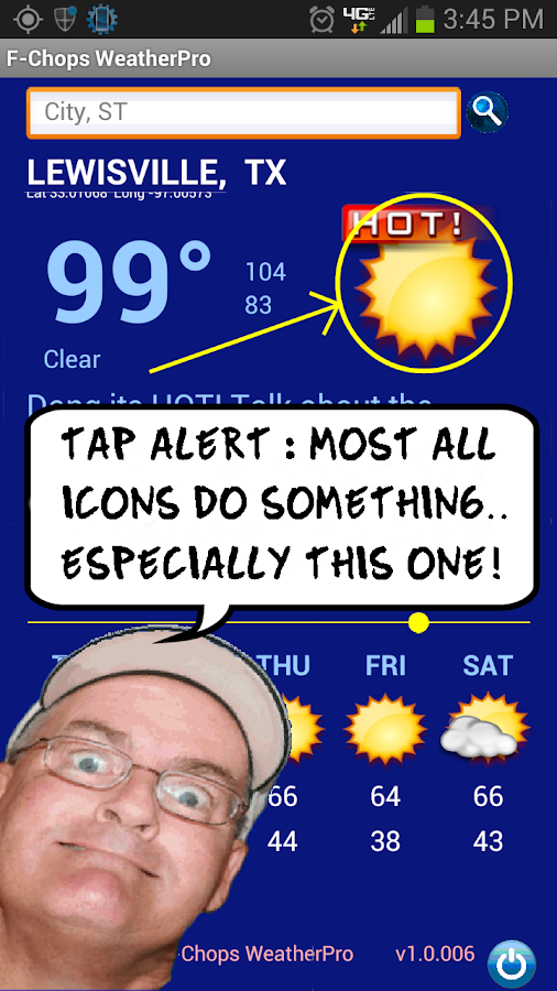 The Best Funny Weather by F-Chops WeatherPod Screenshot 7