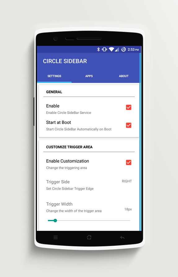 Circle Sidebar Pro Screenshot 1
