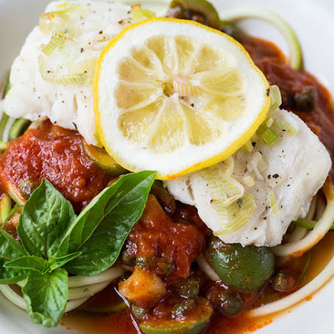 20-Minute Cod en Papillote with Zoodles Marinara