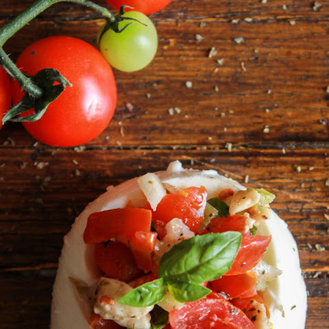 Stuffed Fresh Mozzarella Caprese