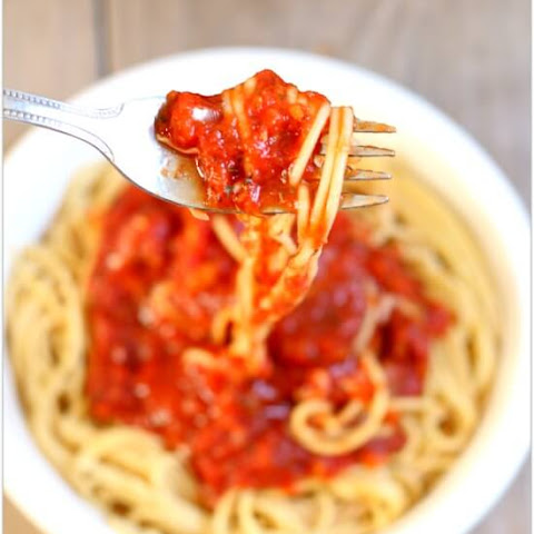 Easy Slow Cooker Spaghetti Sauce