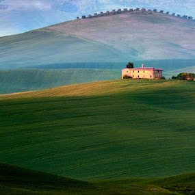At sunrise by Izidor Gasperlin - Landscapes Prairies, Meadows & Fields