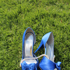 by Cindy Sands - Artistic Objects Clothing & Accessories ( #pearls, #blueshoespearls, #shoesandpearl, #blueshoe, #shoes )