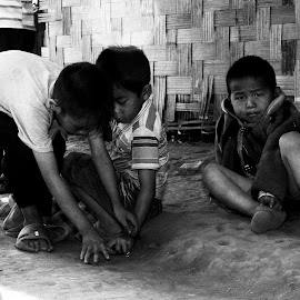 Laotian Boys by William Allinson - People Street & Candids ( playing, laos, street, boys,  )