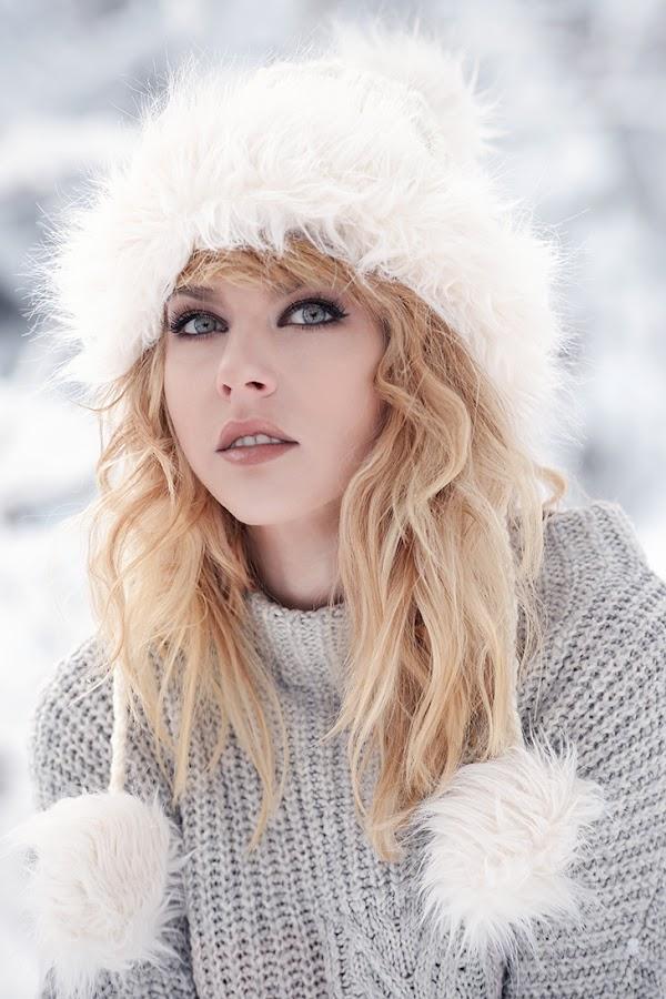 Marina by Cvetka Zavernik - People Portraits of Women ( winter, cold, color, beauty, women, portrait )