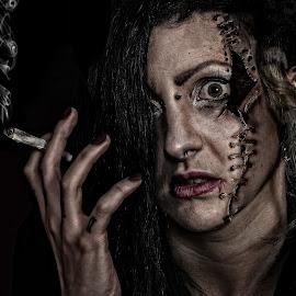 Miss Frankenstein by Mike Lloyd - Digital Art People ( broken, girl, macabre, stitching, frankenstein, horror )