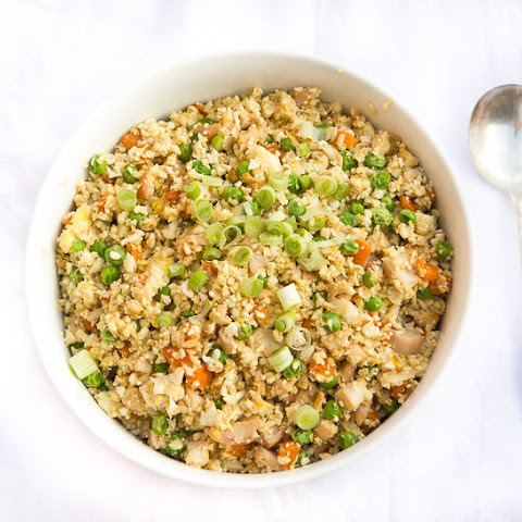 Lightened Fried Cauliflower Rice With Chicken