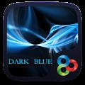 Dark Blue Go Launcher Theme