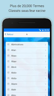 Dictionnaire Médical screenshot for Android