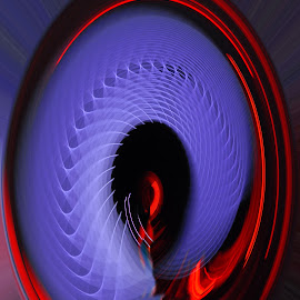 Twirl by Brian Turner - Abstract Light Painting ( abstract, vortex, twisted, red, pattern, blue, swirl, art, projection, grid, oval, twirl )