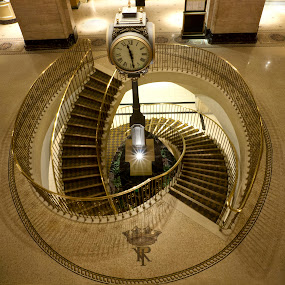 Fairmont Royal York Hotel by Marianna Armata - Buildings & Architecture Office Buildings & Hotels ( lobby, canada, clock, toronto, royal york, staircase, hotel, marianna armata, fairmont )