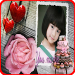 Birthday greeting photo frames Icon