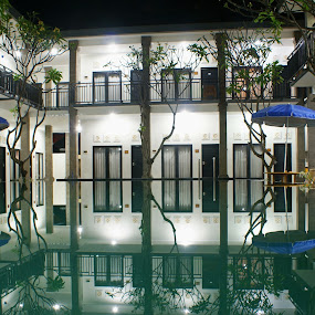 Reflection by Mulawardi Sutanto - Buildings & Architecture Office Buildings & Hotels ( bali, building, reflection, hotel, travel )