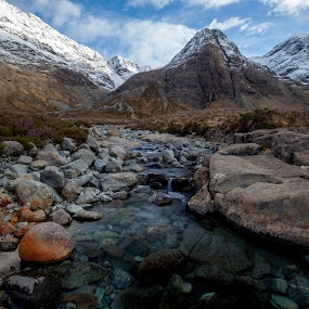 Culin Hills, Skye by Iain Cathro - Landscapes Mountains & Hills ( water, scotland, mountains, skye, snow, island )